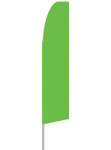 12' tall Solid Green Flag
