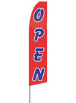 12' tall OPEN Flag