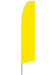 12' tall Solid Yellow Flag